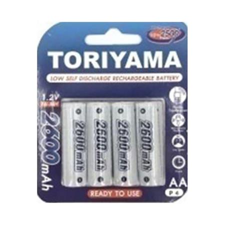 Toriyama ถ่านชาร์จ รุ่น AA2600 แพ็ก 4