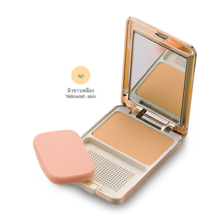 MTI Feel Perfect Compact Powder Foundation With Sunscreen 14.5 ก. #N1ผิวขาวเหลือง