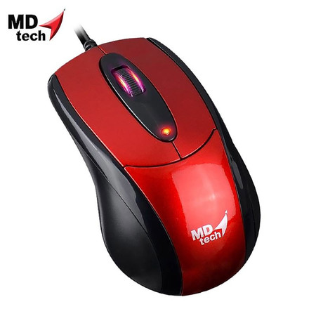 MD-TECH Optical Mouse USB MD-180 Black/Red