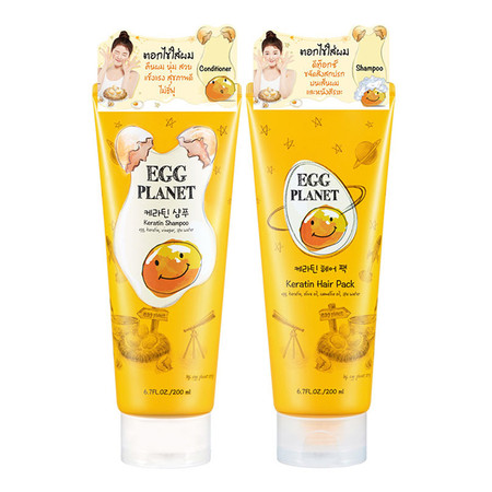 Daeng gi meo ri Egg Planet Keratin Shampoo + Hair Pack 200ml+200ml
