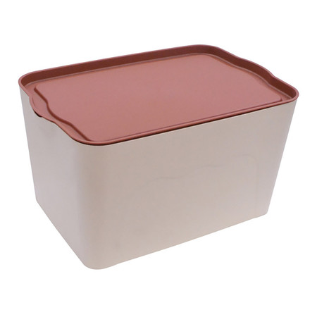 Q Line กล่องพลาสติก-สีน้ำตาล PL-002 (3 ชิ้น)