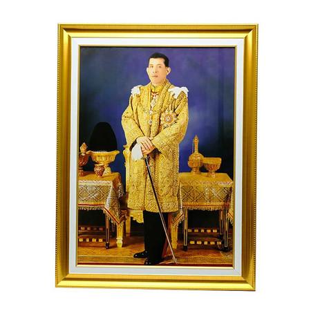 เยี่ยมศิลป์ กรอบรูปสำเร็จภาพโปสเตอร์ในหลวงราชกาลที่ 10 YS-0006