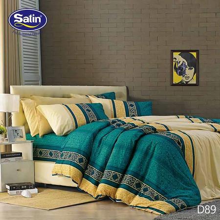 Satin ผ้าปูที่นอน ลาย D89 6 ฟุต