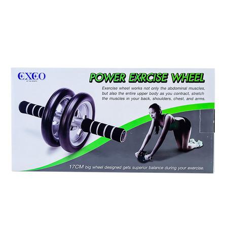 Thai Sports ล้อบริหารคู่ (Double Wheel Exercise) พร้อมแผ่นรอง สีเทาดำ รหัสสินค้า E2X6S1136