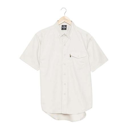 BJ JEANS Shirt BJWS-1119 #Solid-coloured Buttoned Flap Brown Size L