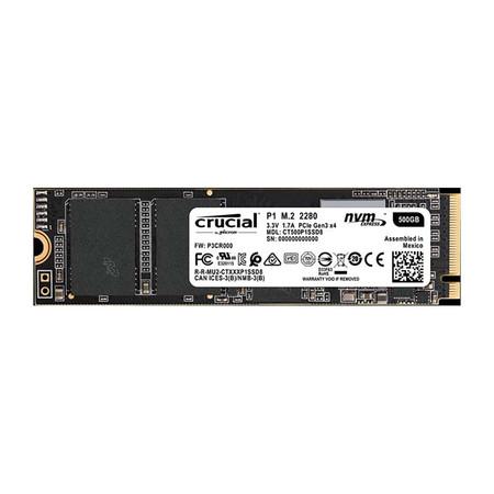 Crucial SSD P1 M2 NVMe 500 GB