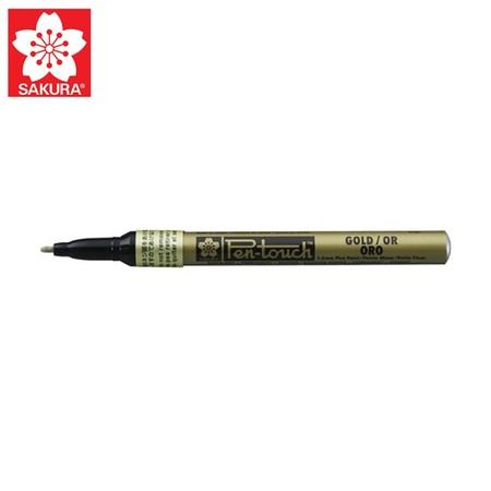 SAKURA Paint Marker ปากกาเพ้นท์หัวเล็ก 1.0 มม. XPMK สีทอง (No.41301)