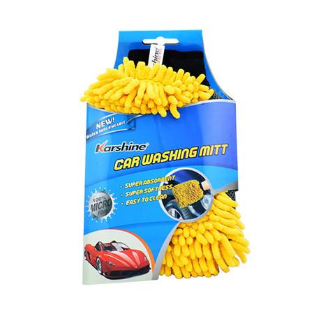 KARSHINE Car Washing Mitt ถุงมือไมโครไฟเบอร์