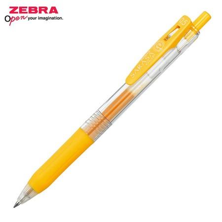 Zebra ปากกาหมึกเจล Sarasa Clip 0.5 มม. JJ15-Y หมึกสีเหลือง (12 ด้าม/กล่อง)