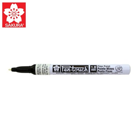 SAKURA Paint Marker ปากกาเพ้นท์หัวเล็ก 1.0 มม. XPMK สีขาว (No.42300)