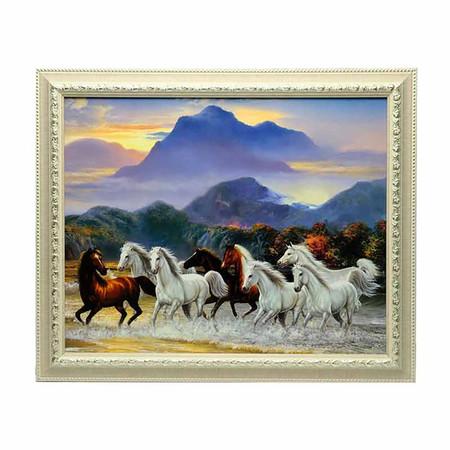 เยี่ยมศิลป์ กรอบรูปสำเร็จพร้อมภาพ ม้า 8 ตัว YS-0024