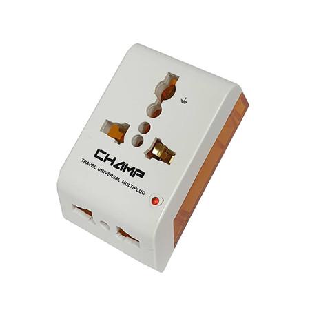 Champ ปลั๊กนอก 3 ทาง สีหวาน รุ่น CH-803-A สีส้ม