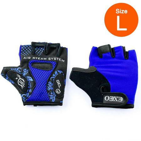 Thai Sports ถุงมือจักรยาน CG-3001 BLUE วัสดุผ้า LYCRA มีเจลซัพพอร์ต ไซส์ L รหัสสินค้า E3XT1114BLL