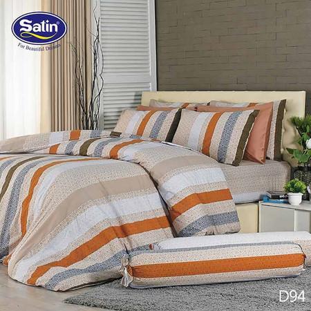 Satin ผ้านวม + ผ้าปูที่นอน ลาย D94 5 ฟุต