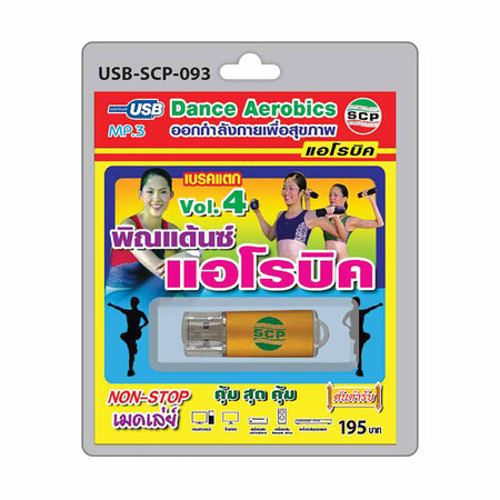 USB MP3 พิณแด้นซ์ แอโรบิค Vol.4