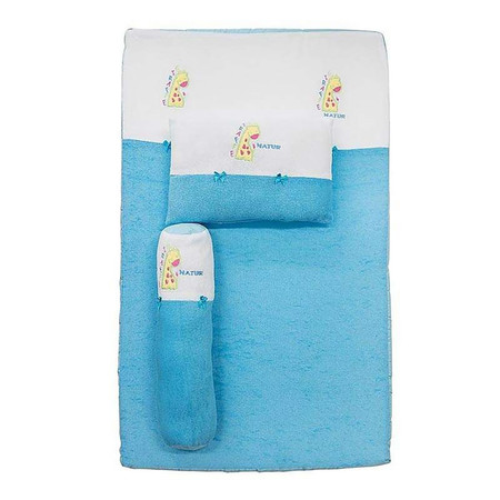 NATUR ที่นอนฟองน้ำผ้าขนหนู 22 x 36 x 2.5 นิ้ว สีฟ้า