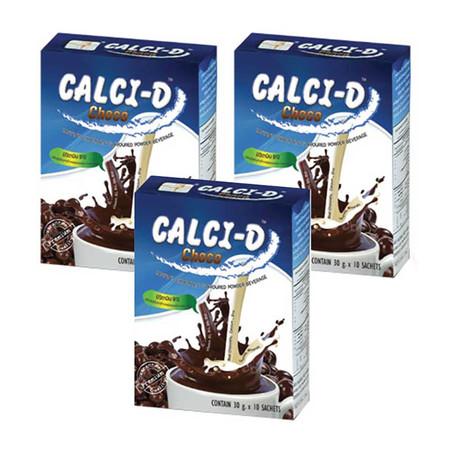 Calci-D Instant Chocolate Flavoured Powder Beverage 10 ซอง/กล่อง 3 กล่อง