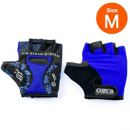 Thai Sports ถุงมือจักรยาน CG-3001 BLUE วัสดุผ้า LYCRA มีเจลซัพพอร์ต ไซส์ M รหัสสินค้า E3XT1114BLM