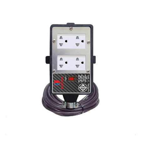 ELECTON ชุดสายพ่วง ปลั๊กยางทนไฟ/SB/4 เต้า 10A3X1.0 10M รุ่น ERB10-SB431010