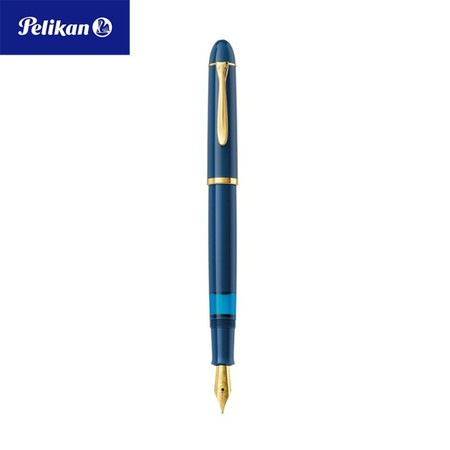 Pelikan ปากกาหมึกซึม Classic M120 Iconic Blue Extra Fine (EF)