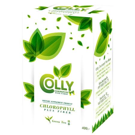 Colly Chlorophyll Powder Plus Fiber คอลลี่ คลอโรฟิลล์ พลัส ไฟเบอร์ 15ซอง/กล่อง