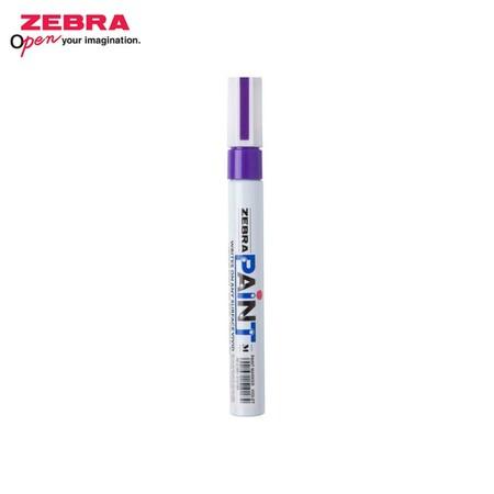 Zebra Paint Marker ปากกาเพ้นท์ MOP-200 สีม่วง (บรรจุ 10 ด้ามในกล่อง)