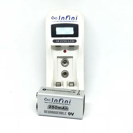 Infini แท่นชาร์จ + ถ่านชาร์จ รุ่น IX2900 + 9V 250 mAh