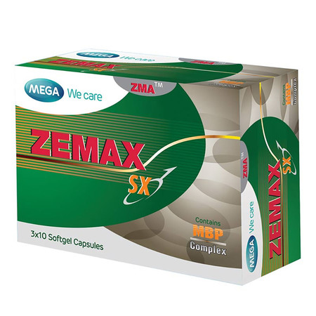 Mega We Care ZEMAX SX ผลิตภัณฑ์เสริมอาหาร บรรจุ 30 แคปซูล