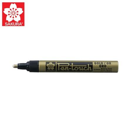 SAKURA Paint Marker ปากกาเพ้นท์หัวใหญ่ 2.0 มม. XPMK-B สีทอง (No.41501)