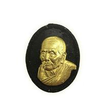 หลวงปู่ทวด เนื้อว่านดำหน้ากากทองฝาบาตร