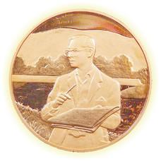 เหรียญทรงงาน เนื้อทองแดงขัดเงา