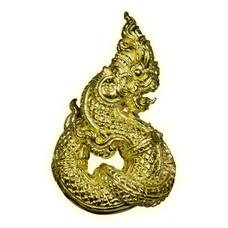 รูปหล่อพญานาคราช เนื้อทองราชาโชค