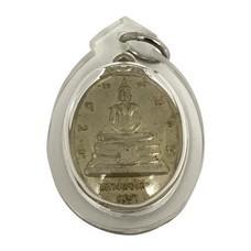 เหรียญหลวงพ่อโสธร ที่ระลึกสร้างพระอุโบสถ หลังภปร.เนื้ออัลปาก้า เลี่ยมกรอบ ปี 38
