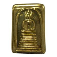 พระสมเด็จพิมพ์เกศไชโย หน้ากากทองเหลือง ปี 52