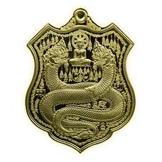 เหรียญพิมพ์อาร์ม คุ้มดวง ร่ำรวย เนื้อทองทิพย์