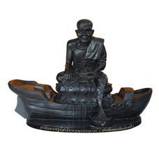 พระบูชาหลวงปู่ทวด เหยียบน้ำทะเลจืด เนื้อทองเหลืองรมดำ หน้าตัก 9 นิ้ว