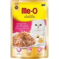 อาหารแมวเปียก ดีไลท์ รสทูน่าและปลาโอในเยลลี่