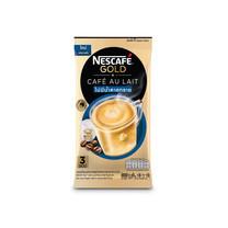 เนสกาแฟโกลด์คาเฟ่โอเลท์สูตรไม่มีน้ำตาลทราย แพ็ค3ซอง