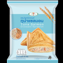 7 Fresh แซนวิชครัวซองค์ทูน่าแซลมอน 95 กรัม