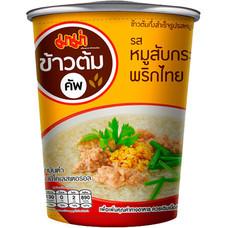 มาม่าข้าวต้มคัพ รสหมูสับกระเทียมพริกไทย 35 กรัม