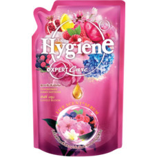 น้ำยาปรับผ้านุ่มไฮยีนเลิฟลี่บลูม สีชมพู