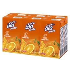 ดีโด้ UHT น้ำส้ม 20% 125 มิลลิลิตร แพ็ก6