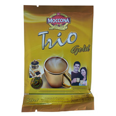 มอคโคน่า ทรีโอ โกลด์ กาแฟปรุงสำเร็จชนิดผง 3 in 1 แพ็ก 5