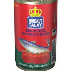 ตรามงกุฎทะเลปลาแมคเคอเรลในซอสมะเขือเทศ 145 กรัม