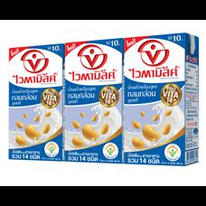 ไวตามิลค์ นมถั่วเหลือง UHT สูตรกลมกล่อม 100 มิลลิลิตร แพ็ก3