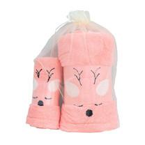 ชุดของขวัญ ผ้าขนหนู Set A สีชมพูโอรส