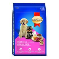 สมาร์ทฮาร์ทอาหารลูกสุนัขรสเนื้อและนม 3 กก.