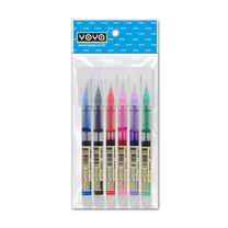 YOYA DS-904G ปากกาเจลน้ำ 0.5 มม. 1 แพ็ก 6 ด้าม