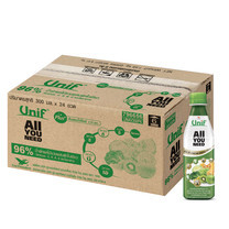 ยูนิฟน้ำผักใบเขียว 96% 300 มิลลิลิตร (ขายยกลัง 24 ขวด)