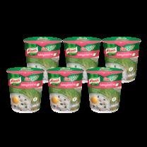 คนอร์คัพโจ๊กรสหมูผสมสาหร่ายชนิดถ้วย 35 กรัม 1X6